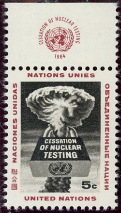 Timbre ONU cessation of nuclear testing