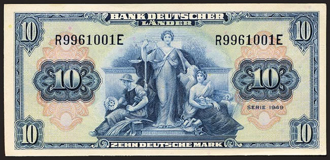 Billet 10 mark Bank der deutscher L¨ander