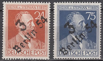 Timbres Stephan surcharge bezirk