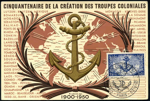 Carte Maximum Troupes Coloniales