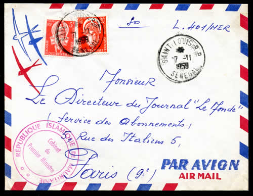 Courrier officiel Mauritanie