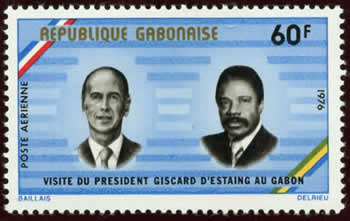 Visite du Pdt Giscard d'Estaing au gabon