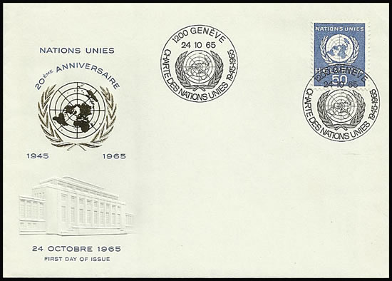 FDC Charte des Nations-Unies 24-10-65