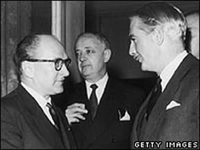 Guy Mollet Anthony Eden SElwynn LLoyd