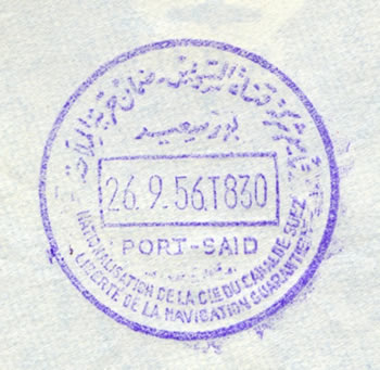 cachet FDC Port-Said