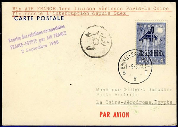 Reprise du courrier avion par Air France