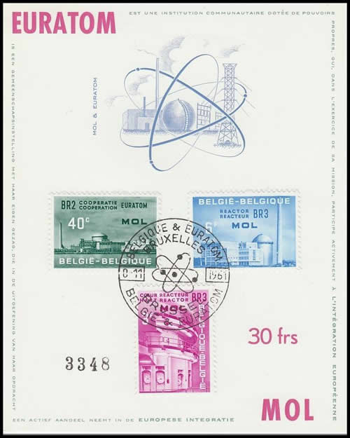 FDC timbres Euratom Belqique