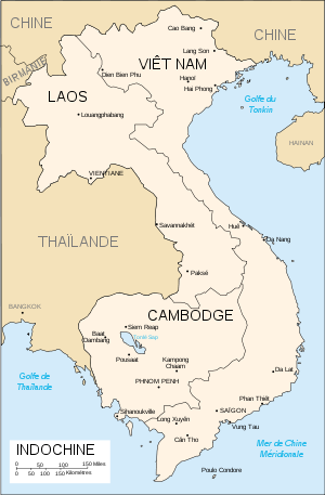 Carte de l'Indochine