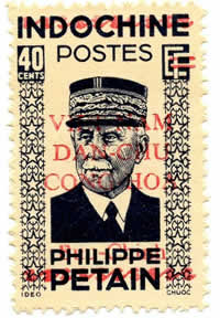 40cts Pétain outremer-gris