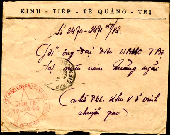 Courrier officiel de Quang-tri
